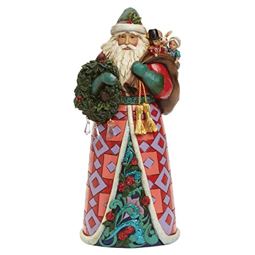 Hearwood Creek 4041064 Figurina Babbo Natale, Paesi di Meraviglia Dell'Inverno Resina Santa, Disegno da Jim Shore, 25.5 cm