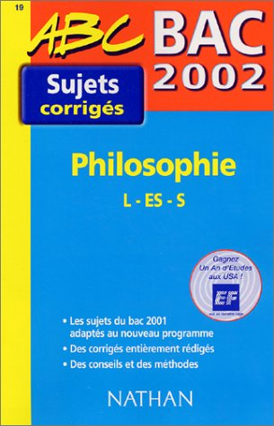 Bac 2002 Philosophie L - ES - S