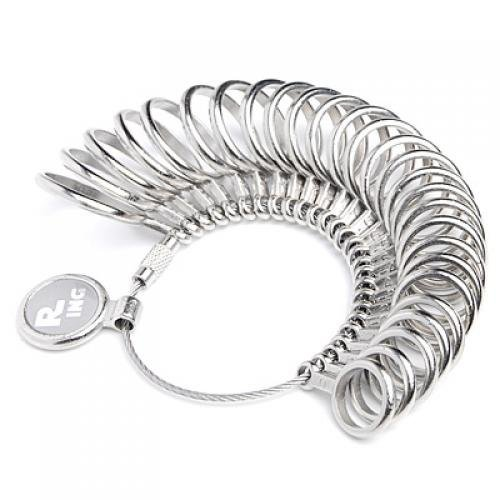 Finger Ring Sizer Gauge Jeweler Steel Sizing Tool US 0-13