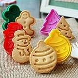 Itian Set di 4 Stampi per Biscotti Formina per Biscotti di Natale, Cookie Cutter in Plastica