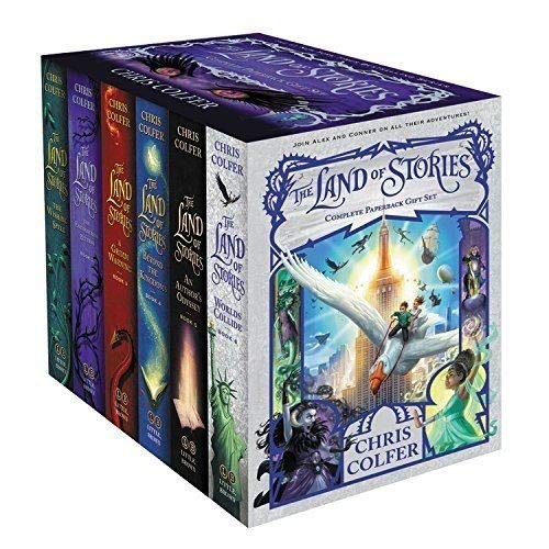 Land of Stories Chirs Colfer Collection 6 Books Box Set (Wishing Spell, Grim Warning, Enchantress Returns, An Authors Oddyssey, Worlds Collide)