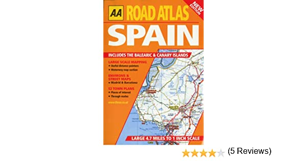 Road Atlas Spain And Portugal AA Atlases Amazoncouk AA - Large map of spain