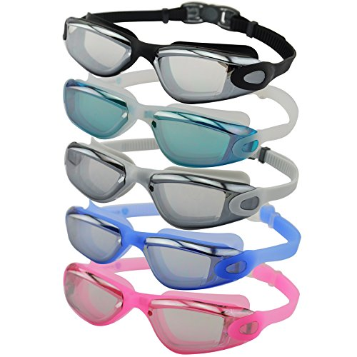 #DoYourSwimming Schwimmbrille inkl. Transportbox | professionelle Chlorbrille / Wasserbrille für Erwachsene | UV-Schutz, Anti-Beschlag auf den Gläsern & Quick-Release-System AF-1600 : blau
