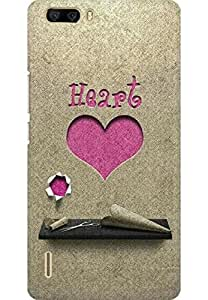 AMEZ designer printed 3d premium high quality back case cover for Huawei Honor 6 Plus (Heart Paper Cutting)