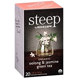 Bigelow Tea - Steep Organic Oolong & Jasmine Green Tea - 20 Teebeutel