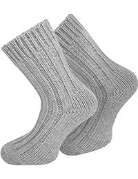 2 Paar Sehr warme Alpaka Wollsocken für Damen und Herren / wie Handgestrickt ! waschmaschienenfest !