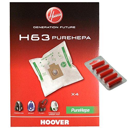 Candy H63PUREHEPA Echte Staubsaugerbeutel (Pack 4+ 5Reinigertabs) -