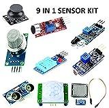 Robocraze Mini Sensor Kit with PIR, Ultrasonic Sensor, IR Sensor, LDR, Rain Sensor, Sound Sensor, Mq- 2 Gas Sensor, DHT 11, Joystick Module
