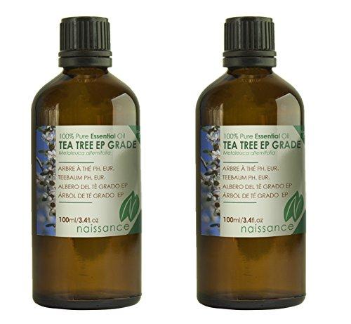 Naissance olio di albero del tè grado ep – olio essenziale puro al 100% - 200ml (2x100ml)