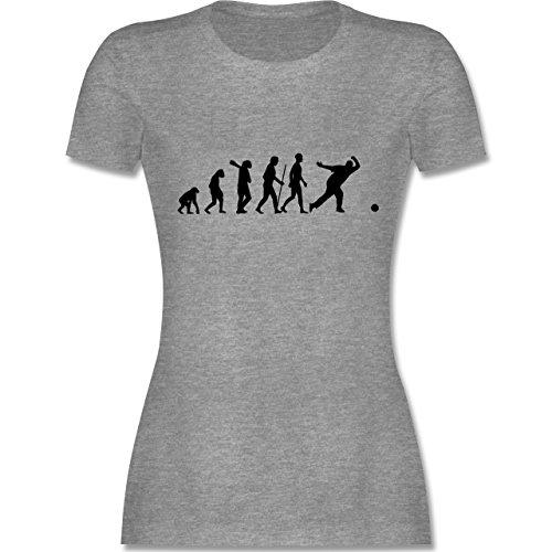 Evolution - Bowling & Kegel Evolution - tailliertes Premium T-Shirt mit Rundhalsausschnitt für Damen Grau Meliert