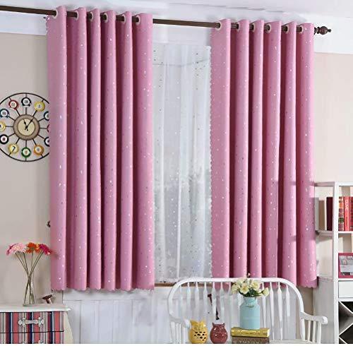 WLGGRH Cartoon niedlichen Himmel Sterne Vorhang Kinderzimmer Schlafzimmer Balkon Fenster Wohnzimmer Vorhang 145cmx145cm (B x H) 2 Platten (Doppel-platte Bügel)