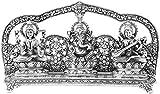 anupam silver lakshmi Ganesh saraswati / laxmi ganesha god idols / murti / statue / figurine for Diwali / deepawali puja / pooja / diwali gift / corporate gifts / Home decor ( metallic - silver plated ) / handicraft gift