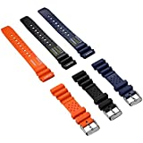 ZULUDIVER® ND Limits Dive Watch Strap, PVC Rubber, Polished Buckle