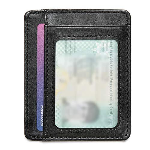 d52e5abdf5 Mercor Portafoglio Uomo Piccolo Porta Carte di Credito RFID|Porta Tessere  Sottile in Pelle PU