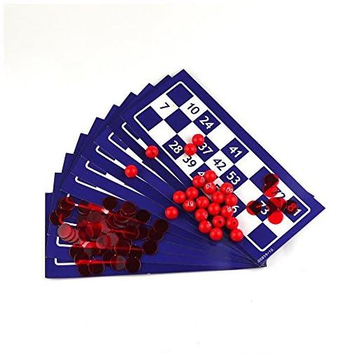 Bingo-Spiel-zustzliche-Kit-120pcs-Chips-10-Einzelpapier-Bingo-Karten-90pcs-Bingo-Kugeln-CJ473 Bingo-Spiel zusätzliche Kit 120pcs Chips / 10 Einzelpapier Bingo-Karten / 90pcs Bingo-Kugeln CJ473 -