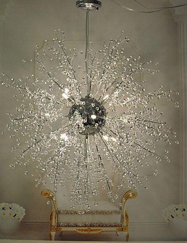 SWENT Moderne einfache/Retro/LED-pendelleuchten Globe Crystal/LED/Glühlampe Chrom Metall Kronleuchter/Anhänger LightsLiving Zimmer/Schlafzimmer/Esszimmer enthalten, 115V, WARM-WEISS (Globe Crystal Anhänger)