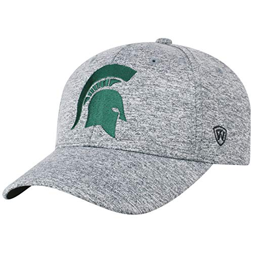 Top of the World NCAA Michigan State Spartans Men's Adjustable Steam Charcoal Icon Hat, Grey