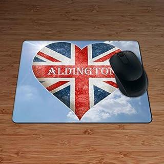 Love Aldington Union Flag Heart Design Premium Mouse Mat - 5mm Thick