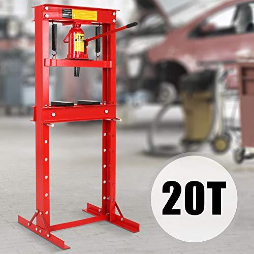 TIMBERTECH 6T 12T 20T Werkstattpresse - inkl. Hydraulikpumpe und 2X Druckplatten - Hydraulikpresse, Lagerpresse, Dornpresse, Rahmenpresse, Presskraft