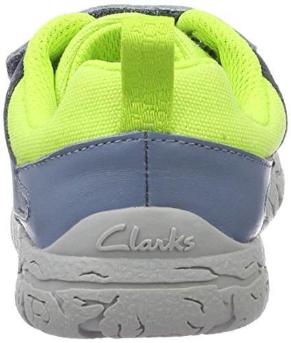 Clarks Brontoglow, Scarpe da Ginnastica Basse Bambino Blu (Blue Combi)