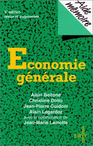 economie-generale-cinquime-dition-revue-et-augmente