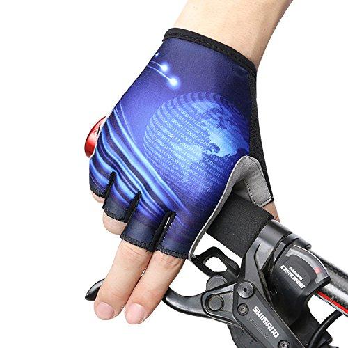 TeyxoCo Cycling Outdoor Sport Half-finger Gel Gloves L