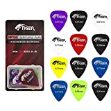 Tiger GAC65-12 - Set de 12 p�as para guitarra, transparente