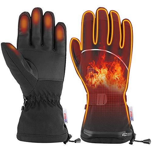 guanti riscaldati Ynredee - Guanti riscaldati elettrici con Touch Screen