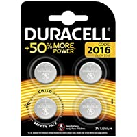 Duracell Specialty 2016 Lithium Coin Battery 3V, pack of 4 (DL2016/CR2016) designed for use in keyfobs, scales, wearables and medical devices
