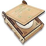 CANDLE in the BOX Trauerkerze Katze mit Spruch | Personalisierte Gedenkkerze mit Foto und mit Namen | Gedenklicht Katze für Zuhause mit Gravur (Spruch Herz)