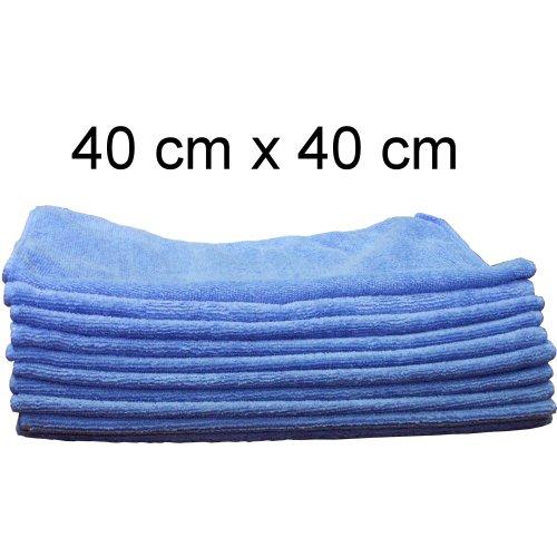 10 Mikrofasertücher Poliertuch für Autolack Effektlack Möbel Felgen