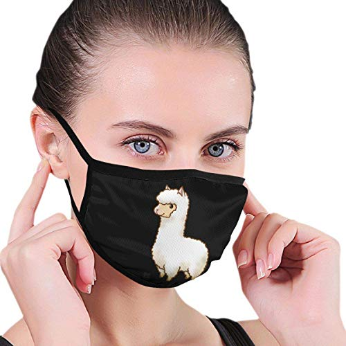 NAA Alpaca Cute Unisex Mouth Mask Anti-dust Cotton Face Mask for Men and Women
