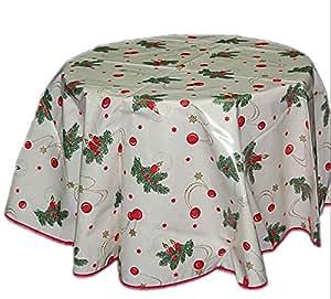 tischdecke abwaschbar wachstuch beige saum weihnachten. Black Bedroom Furniture Sets. Home Design Ideas