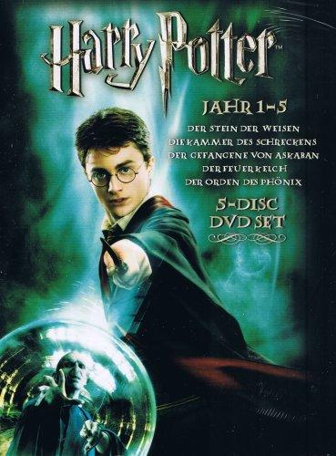 HARRY POTTER / Jahr 1-5 / 5-Disc DVD SET (Harry Potter Jahr Fünf)