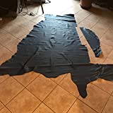 SCM Haut-Leder gestutzt Rest 2M2, OEM Florida Dunkelblau, Stärke 1,2mm, weich