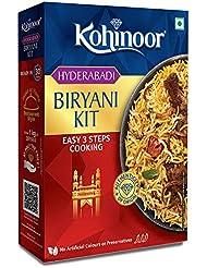 Kohinoor Authentic Basmati Biryani Kit, Hyderabadi- 327 g Pack