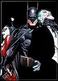 Ata-boy DC Comics Alex Ross Batman, Joker et Harley Quinn 6,3x 8,9cm Aimant pour développement et casiers