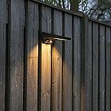 QAZQA Modern LED-Außen Wand Spot/Spotlight/Außenstrahler/Strahler/Lampe/Leuchte Bro op Sonnenernergie mit PSensor/Bewegungsmelder/IR IP44 / Außenbeleuchtung Kunststoff Andere / (nicht au