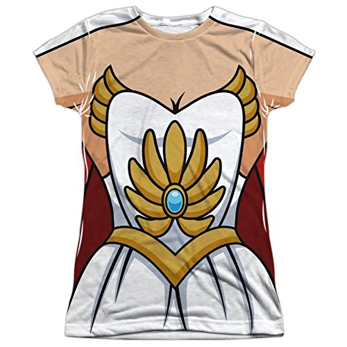 She-Ra Princess of Power Damen Sublimation Kostüm T-Shirt (X-Large) (She Ra Kostüm Kostüm)