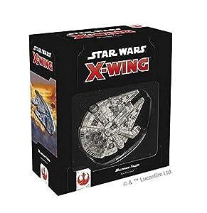 Asmodee Italia - Star Wars X-Wing Millennium Falcon expansión Juego de Mesa con espléndidas miniaturas, Color, 9962