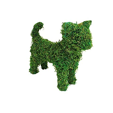 Gardensity ® Topiary Animals Full Kit Artificial Garden Topiary Animals Frame & Pre Filled (Green Dog)