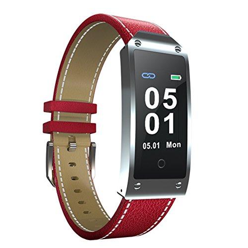 Kivors Activity Tracker, 107, Fitness Tracker, Armbanduhr mit Herzfrequenzmesser, Bluetooth, IP67,Smart-Armband für iOS- und Android-Smartphone, Y2RD, Y2-Red