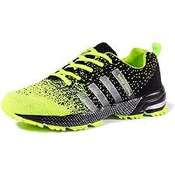 Uomo Donna Ginnastica Trekking Estive Sneakers Sportive Verde 42