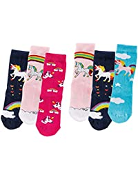 C&C KIDS Kinder Socken Jungen oder Mädchen 6 Paar handgekettelt Spitze weiche Naht