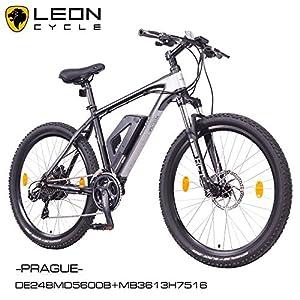 NCM Prague 26 Zoll Elektrofahrrad Mountainbike E-MTB E-Bike,Pedelec ALU 36V 250W Li-NCM Akku mit 13Ah,schwarz,silber
