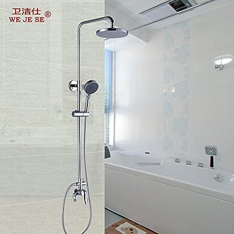 ODJG Kit doccia riscaldata del tubo di rame Raccordi in acqua calda e acqua fredda valvola ,8037T-B mix di SMA riscaldata