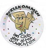 Party-Teller Willkommen im Club der alten Schachteln 6 Stück