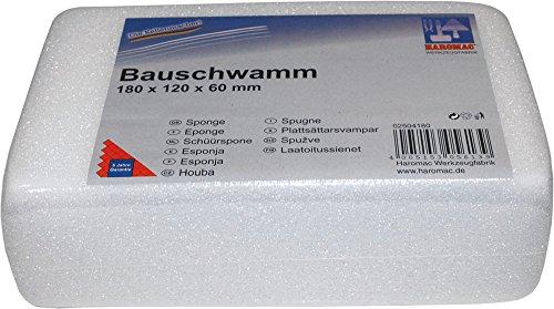 Haromac 02504180 Bauschwamm, fein, 180 x 120 x 60 mm