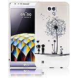 LG X Cam Pusteblume Silikon Schutz-Hülle weiche Tasche