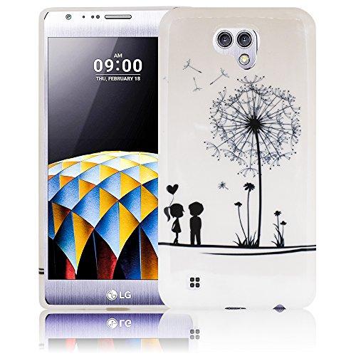 LG X Cam Pusteblume Silikon Schutz-Hülle weiche Tasche Cover Case Bumper Etui Flip smartphone handy backcover Schutzhülle Handyhülle thematys®